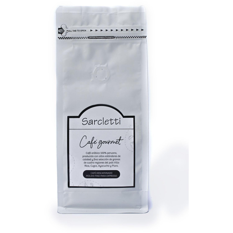 Sarcletti Café Descafeinado Molido Espresso 250gr SIN COLOR Café molido