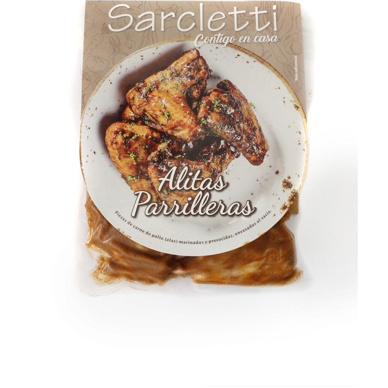 Sarcletti Alitas Parrilleras 600gr SIN COLOR De pollo y pavo