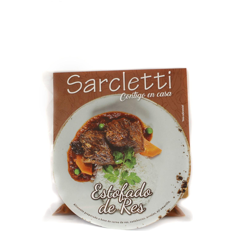 Sarcletti Estofado De Res 320gr SIN COLOR Carne de vaca