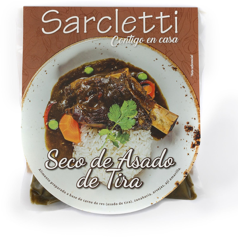 Sarcletti Seco De Asado De Tira 320gr SIN COLOR Carne de vaca