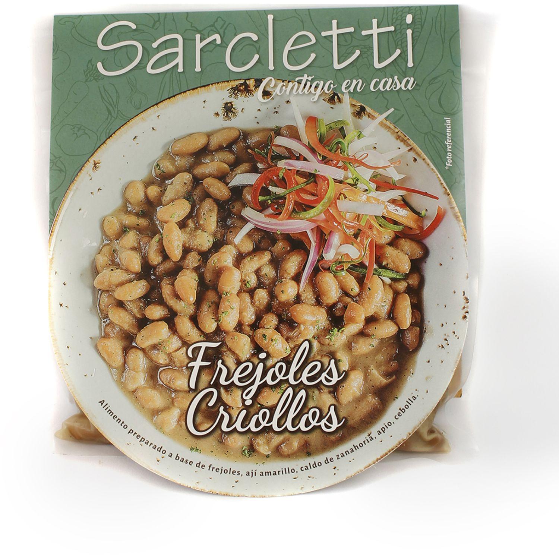 Sarcletti Frijoles Criollos 320gr SIN COLOR Sin carne